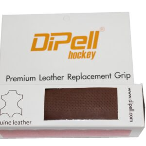 Leather hockey grip brown light perforation