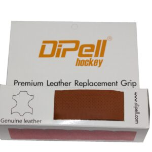 Leather hockey grip tan light perforation
