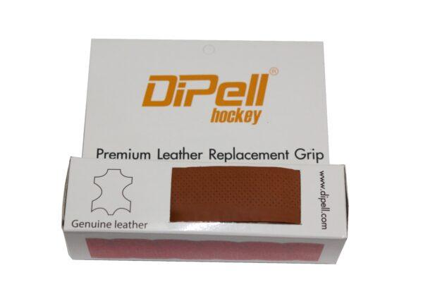 Leather hockey grip tan light perforation